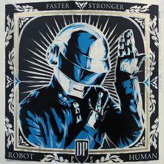 Daft Punk, Thomas Bangalter, Punk Art, Print Artist, Electronic Music, Musical, Robot, Screen Printing, Sculptures