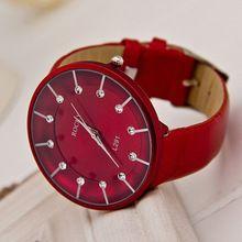 b7cb631494a Venda quente Relogio Feminino mulheres relógio de couro relógio de  diamantes mulheres transparente brilhante vestido de
