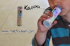 Fête de la musique: fabriquer un kazoo        En avant les vibrations du kazoo...   Si l'instrument est bien utilisé ça fait du bruit dan...