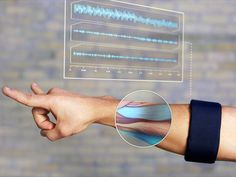 Myo muscle-reading gesture interface device. can be worn on the go...