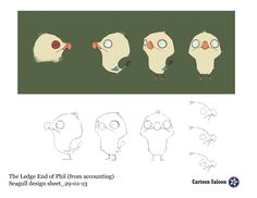 Character Design from the animated short, The Ledge End Of Phil.