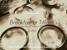 Champagne brunch #Breakfast at Tiffany's, sunday 20th january 2013
