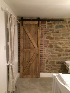 Top Hung RUSTIC Sliding barn Straight track hardware by Doormate