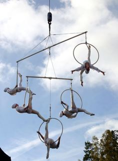 Something like this might work for the aerialists. / Room 3, The Big Top. Craw and Loupe Bros. All Hallows E'en Little Big Top Circus, The Clowns Are Revolting!