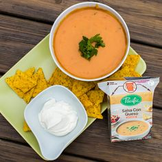 Our tasty Salsa Con Queso, blended with real sharp cheddar and Monterey Jack cheeses with chopped roma tomatoes, red bell peppers and jalapeños, promises to be an instant crowd pleaser at any summer get-together!