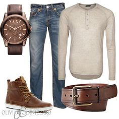 Shirt: J.LINDEBERG | Shoes: River Island | Jeans: True Religion | Belt: Fossil | Watch: Armani Exchange