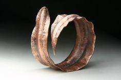RESERVE Kelp Bangle in Copper, THREE Heather rings, Entwined ring by Jewels Curnow Copper, Brass, Bangles, Bracelets, Metal Jewelry, Artisan Jewelry, Metal Art, Wearable Art, Portland