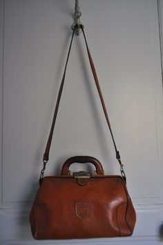 Vintage French Doctors Bag Style Leather Bag by LaManche on Etsy