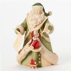 Enesco Heart of Christmas Santa with Tablet and Elf Figurine