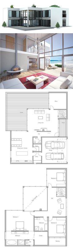 Maison préfabriquée   contemporaine   ossature métallique - plan maison structure metallique