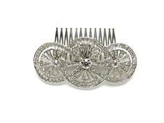 Wedding Hair Accessories 3 Round Hair comb Pin by TheHeartLabel
