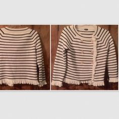 "J. Crew nautical cardigan; S (19"" length) NWOT. Measures 18in from top to bottom. Great with jeans J. Crew Sweaters Cardigans"