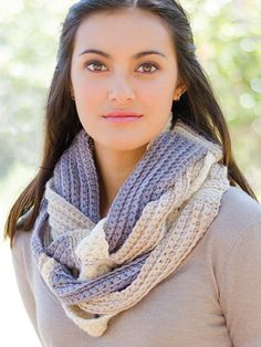Crochet Challah Infinity Scarf from Annie's Craft Store. Order here: https://www.anniescatalog.com/detail.html?prod_id=132301&cat_id=468