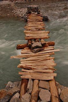 Scary bridge in Nepal