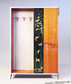A stunning wardrobe from the 1950's, made in Italy.