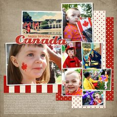 Canada Day Scrapbooking Disney Scrapbook, Baby Scrapbook, Scrapbook Cards, Canada Day 150, Canada Day Crafts, True North, Layout Inspiration, Page Layout, Theme Ideas