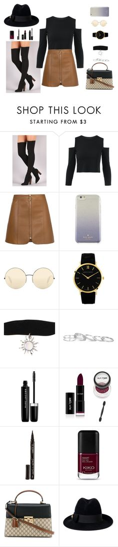 """Merry Christmas 🎄🎁"" by danny-rv ❤ liked on Polyvore featuring beauty, Kate Spade, Victoria Beckham, Kendra Scott, Marc Jacobs, Smith & Cult and Gucci"