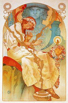 Page: The Slav Epic Artist: Alphonse Mucha Completion Date: 1928 Style: Art Nouveau (Modern) Series: Slav Epic Genre: allegorical painting T...