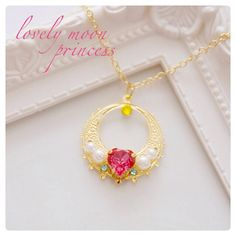 Lovely Moon Princess Necklace  Sailor Moon by jjmaguro on Etsy