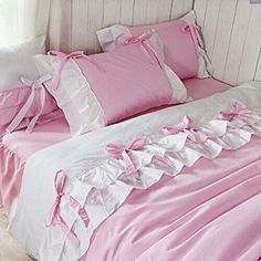 30 Cute Soft Pink Pillow Ideas With Shabby Chic Style Shabby Chic Style, Shabby Chic Decor, Pink Pillows, Bed Pillows, Bed Covers, Duvet Cover Sets, Girls Bedding Sets, Bed Sets, Soft Furnishings