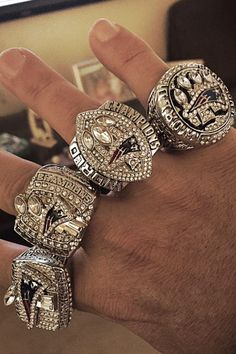Some BIG rings #PatsNation