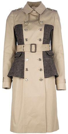 40c10ec4e3a1b Burberry prorsum Double Breasted Peplum Coat - A dream come true... Burberry  Coat