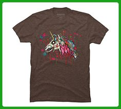Zombie Unicorn Men's 2X-Large Mocha Heather Graphic T Shirt - Design By Humans - Fantasy sci fi shirts (*Amazon Partner-Link)