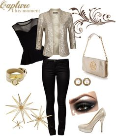 Elegant in Gold !, created by amira-farag on Polyvore