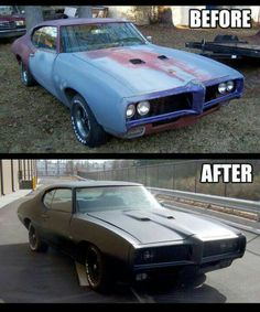 Before An After Badass Cars Pinterest Restoration And Cars