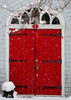 Could paint the barn roll up door like this.