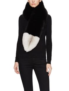 """Fox Fur Stole Scarf, 40"""" x 7"""" by PURE NAVY at Gilt"""