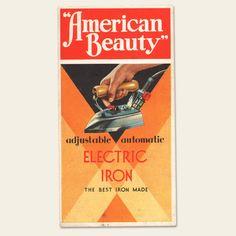 "1930s ""American Beauty"" Electric Iron Brochure"
