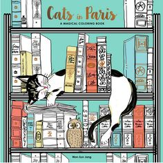 This Cats in Paris adult coloring book provides feline companionship for your meditative coloring experience. And a side trip to Paris is a bonus! Color cats lounging on the floor, visiting the Eiffel Tower, and posing on postage stamps. Coloring Pages For Kids, Adult Coloring, Coloring Books, Colouring, The Secret World, Book Photography, Paperback Books, I Love Cats, Cat Art
