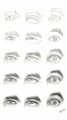 Realistic Drawing Tips Character Design Collection: Eyes AnatomyCharacter Design Collection: Eyes Anatomy Drawing Techniques, Drawing Tips, Drawing Sketches, Pencil Drawings, Painting & Drawing, Art Drawings, Drawing Faces, Drawing Hair, Drawing Lessons