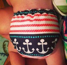 Nautical Cloth Baby Diaper  http://hyenacart.com/stores/SassyGreenCreations/