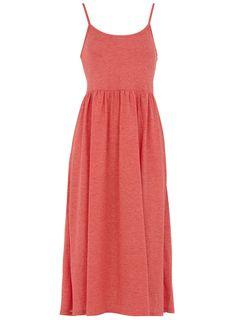 Coral neppy strappy midi dress  #Dorothy_Perkins