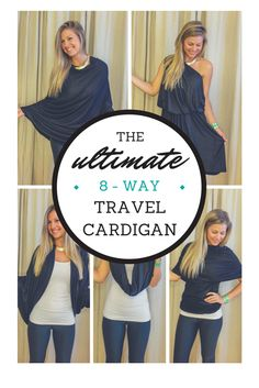 I love when I get an opportunity to share my favorite products and experiences with my readers, so I'm thrilled to be giving away my favorite travel cardigan by enCircled! Their Chrysalis Cardi is by far the best travel cardigan I've found- Convertible Clothing, Travel Must Haves, Best Travel Accessories, Travel Clothes Women, Travel Clothing, Air Travel Outfits, Travel Dress, Travel Wardrobe, Capsule Wardrobe