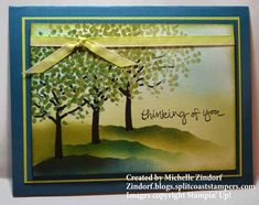 Splitcoaststampers Green Trees - MZ