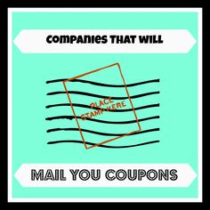Here's a very detailed list of where you can ask companies to send you coupons in the mail! It's a Hit and Miss on which companies are sending out mailed Extreme Couponing, Coupons, Canada, Tips, Coupon, Counseling