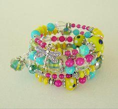 Boho Chic Bracelet Stacked Bracelet Lampwork by BohoStyleMe