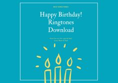 Many people want to set Happy Birthday Ringtone in his phone but They can't Find the Ringtone. Today we give unlimited Happy Birthday Ringtone for FREE. You can Download this ringtones and use as your Mobile Ringtone. Cool Happy Birthday Images, Happy Birthday Name, Birthday Quotes, Ringtone Download, Phone, Free, Anniversary Quotes, Telephone, Mobile Phones