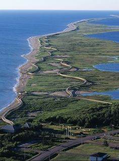 La Dune de Bouctouche, Canada , known by its first inhabitants as the Great Little Harbour, has hiking and cycling trails that are part of the New Brunswick Trail system. - http://www.theworldgeography.com/2013/07/incredible-spits.html