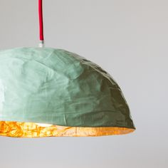 Paper Mache Hanging Lamp - Handcrafted in Montreal, Quebec, Canada - Chic & Basta Hanging Light Fixtures, Modern Light Fixtures, Hanging Lights, Diy Hanging, Diy Luminaire, Plug In Pendant Light, Slow Design, Design Movements, Co Working