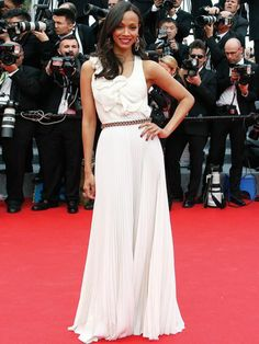 Zoe Saldana in Victoria Beckham - Cannes 2014