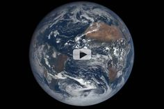 NASA's new website for its Deep Space Climate Observatory (DSCOVR) mission will be updated daily with images captured 12 to 36 hours prior. 22 Images from Oct. 17th, 2015 have been compiled and looped here to show one full rotation.