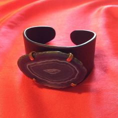 *LOWEST* Adjustable Stone Cuff Features beautiful cut stone Nasty Gal Accessories