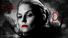 once upon a time : Emma Swan The dark one ! Wallpaper ( 1366 x 768 ) my work with photoshop
