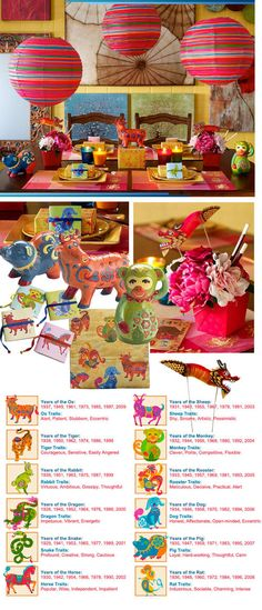 These decor and party ideas from Pier 1 for celebrating Chinese New Year on January are so fun and colorful! One year I will make time to have a party! Chinese New Year Party, Chinese New Year Decorations, Chinese Holidays, New Years Decorations, New Years Party, Chinese Theme, New Year's Crafts, Holiday Crafts, Kid Crafts