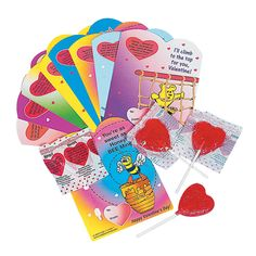 Scripture Valentine Cards & Pops - OrientalTrading.com- definitely need these for my Wednesday class!