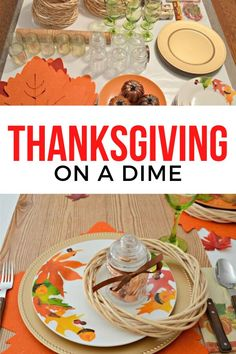 Set your Thanksgiving table on a budget with these dollar store decorating ideas. Your table will look fabulous on a budget. #diy #thanksgiving #hometalk Thanksgiving Table Runner, Thanksgiving Tablescapes, Thanksgiving Crafts, Thanksgiving Decorations, Fall Placemats, Coffee Bean Sacks, End Table Makeover, Stenciled Table, Ikea Mirror